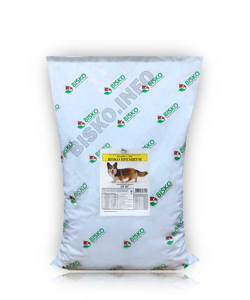 Биско Премиум с индейкой и рисом 10 кг.