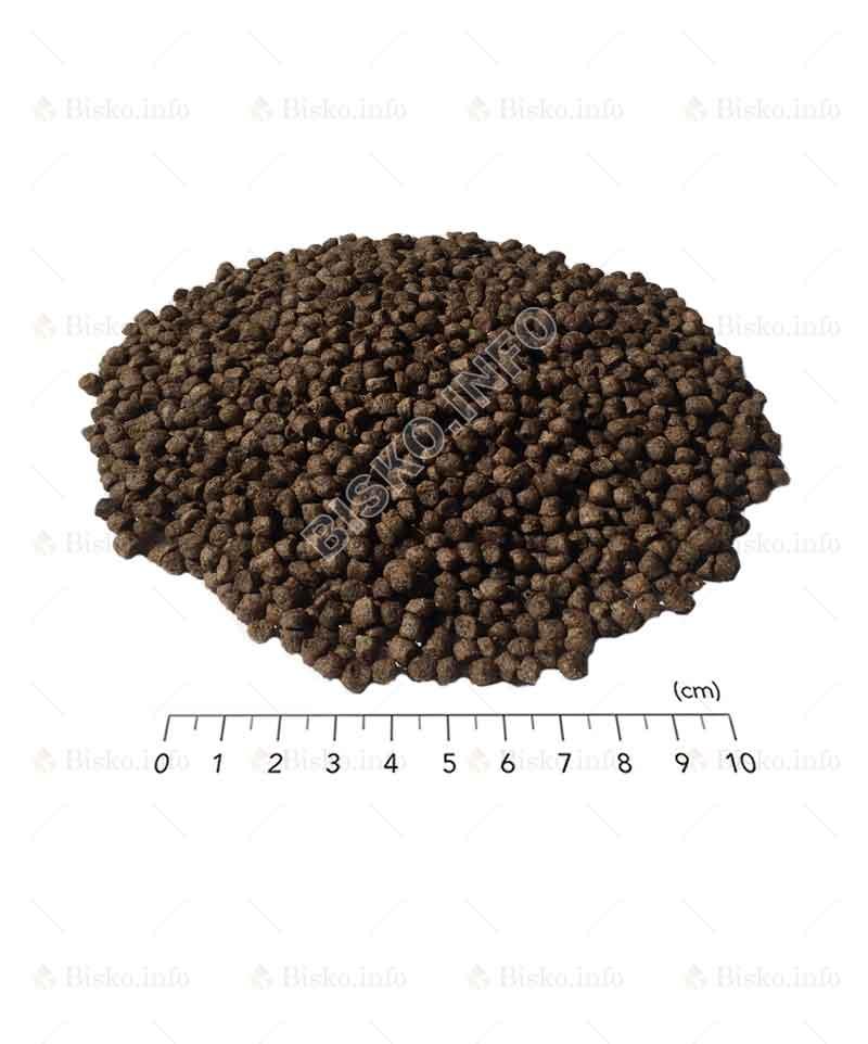 Размер гранул корма Биско для осетровых рыб