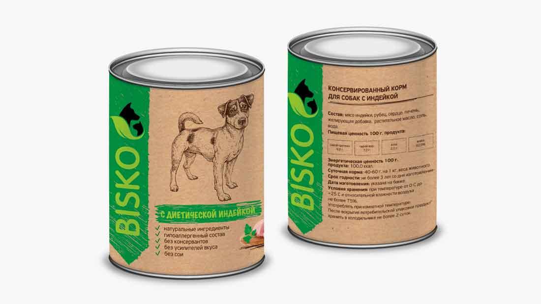 Консервированный корм для собак с с диетической индейкой